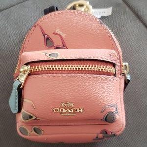 Coach Mini Backpack Keychain